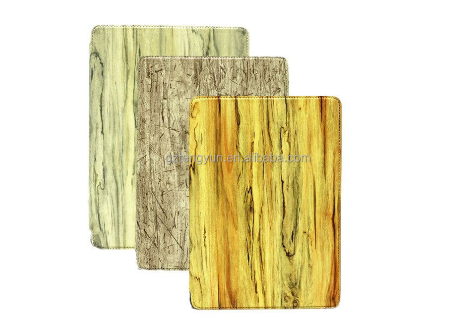 OEM manufacture wood pattern prodective cover case for ipad air/air 2
