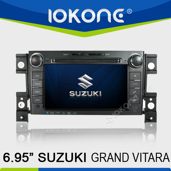 "factory 7"" HD Touch screen suzuki grand vitara 2 din 7 inch car dvd player with TMC, camera, mic, dvb-t"