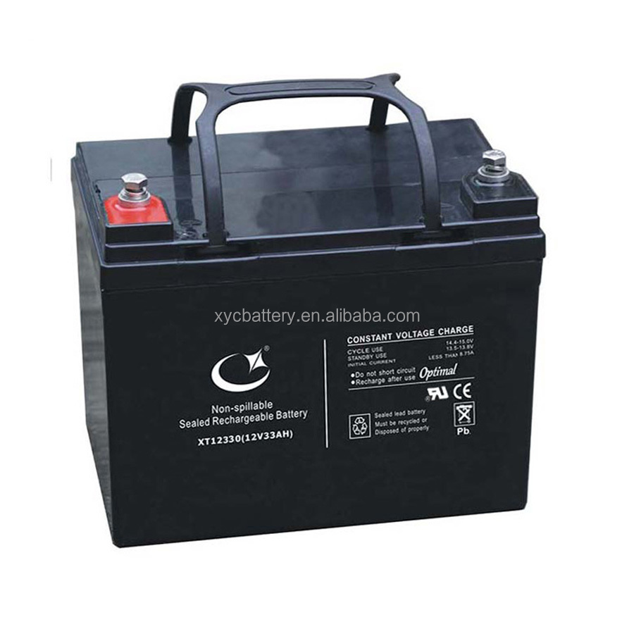 Long life 12V 33ah lead acid AGM battery for UPS solar systome sound equipment