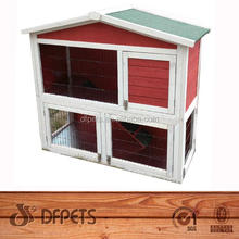 DFPETS 2 Story Rabbit Hutch With Opened Roof