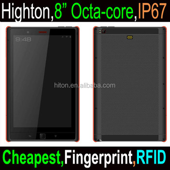 Cheapest Factory 8 inch android 4G NFC Fingerprint reader octa core rugged tablet pc, industrial tablet pc with octa core nfc