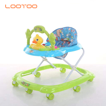 China factory offers black green grey height adjustable sit on seat scooter baby walker with table tray pictures