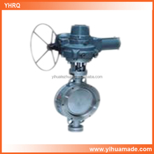 factory supply D973W-16P DN250 electric stainless steel butterfly valve