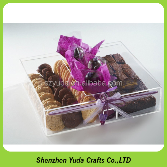 fancy chocolate window candy boxes with cover for gifts