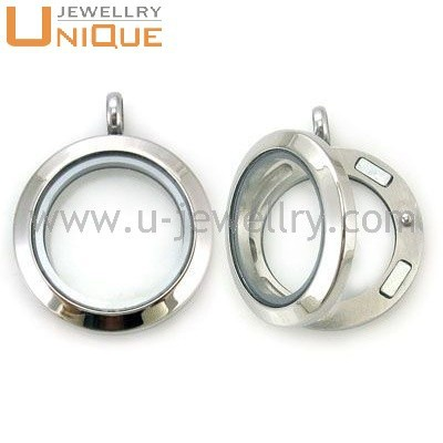 Tope quality Wholesale floating charm stainless steel open locket
