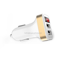 2017 Brand new mobile phone car charger with Power LED disply AC12-24V 2.1A dual usb car charger