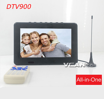 DTV900 9 inch home DVB-T2 digital tv converter box antenna USB TF MP5 player