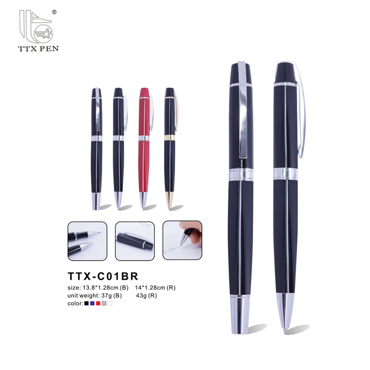 high quality gift custom logo metal ball point twist pen Promotional Ballpoint Pen
