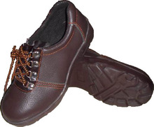 Sjay 9135 Low Cut Safety Shoes work footwear, Embossed Leather Upper, Cemented Contruction, Wearable Rubber Outsole