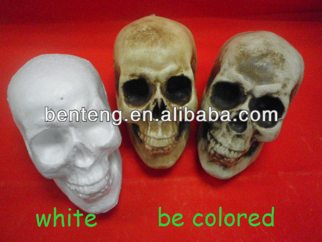 new products for 2013 halloween hot selling foam wholesaler ceramic skulls