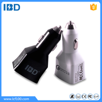 ibd cars accessories smartphone dual usb car charger , 9v 2a car charger for samsung S4 S6 S7