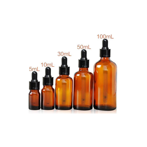 5ml 10ml 15ml 20ml 30ml 50ml 100ml Amber Glass Bottle with Dropper