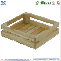 2016 wholesale unfinished cheap wooden crates packing wooden crates