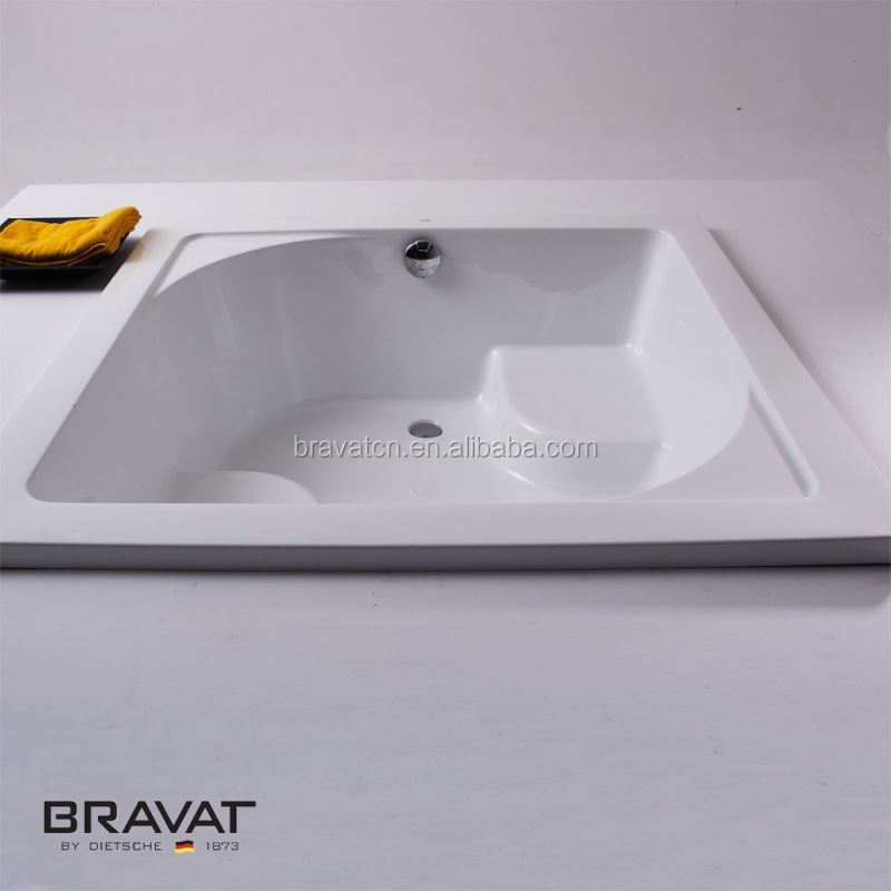 More durable lighter and costs less to install acrylic cheap shower tray B25310W