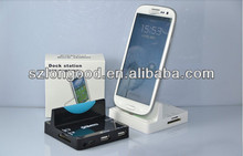 Charger Combo Docking Station + Card Reader + USB Hub for Galaxy S3 i9300 for S4 i9500 for Note2 N7100