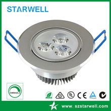 65 mm hole 3W SMD led downlight with CE ROHS SAA standard