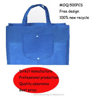 2015 shopping non woven recyclable foldable bag