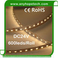 China factory price high quality dc24v indoor 3528 warm white flexible smd led strip