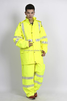 reflective police raincoat /Rain suit for adult