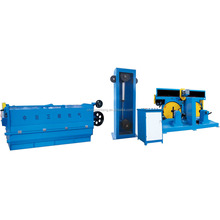 Aluminium cutting wire rod breakdown machine with double spooler automatic change