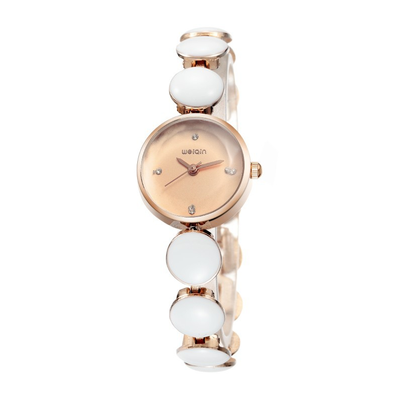Trade assurance beautiful jewelry ladies pearl bracelet watch