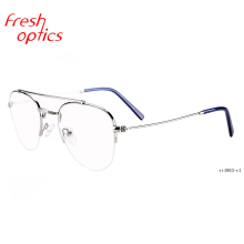 2019 fashion custom metal pilot designs eyes glasses frame designers optical eyeglasses frames for men