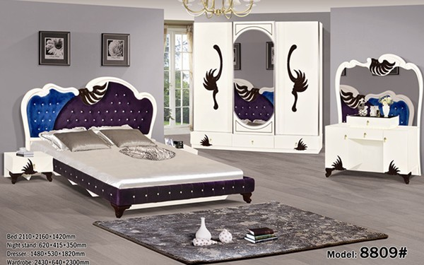 mdf high gloss model home bedroom furniture