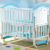 Full sized have supper space storage baby crib wooden bed wheels in turkey