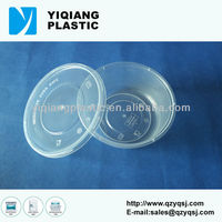 Disposable salad flat plastic containers