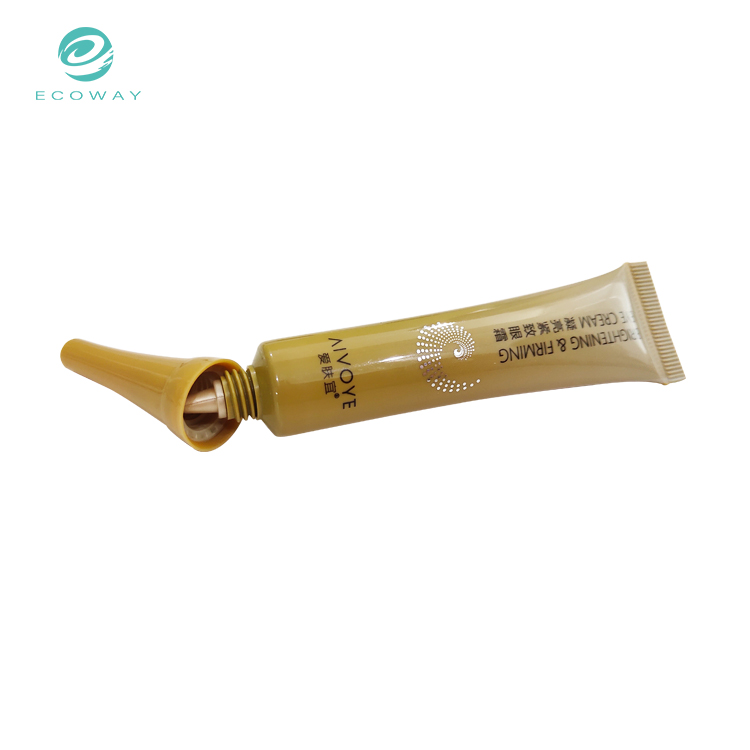 Skincare eye cream packaging plastic cosmetics with long nozzle tube
