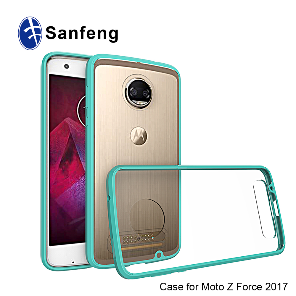 Clear TPU Mobile Phone Case For Moto Z2 Force / Z2 Play Back Cover