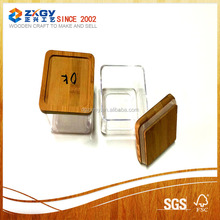 glass square wood candle lid on sale