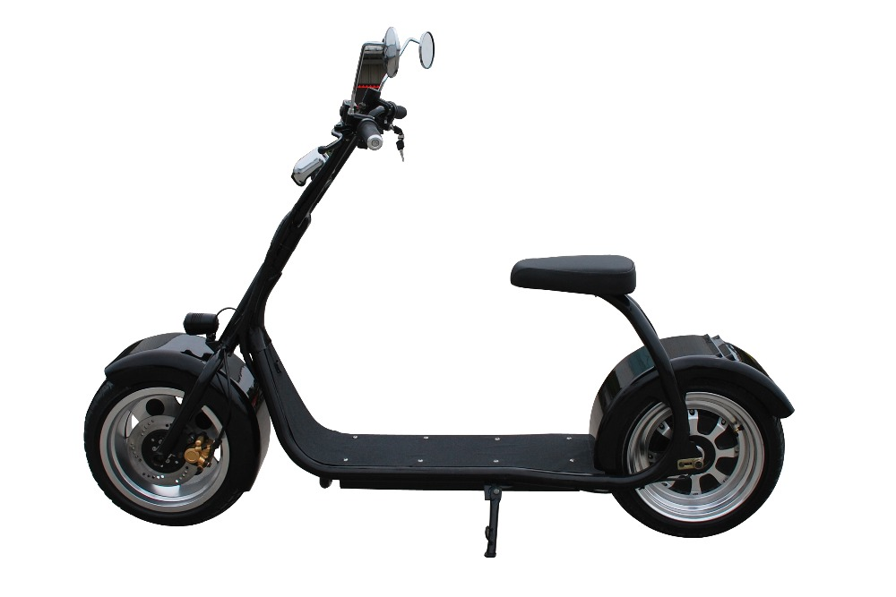 2016 fashion big wheel citycoco motorcycle off road electric moped from china