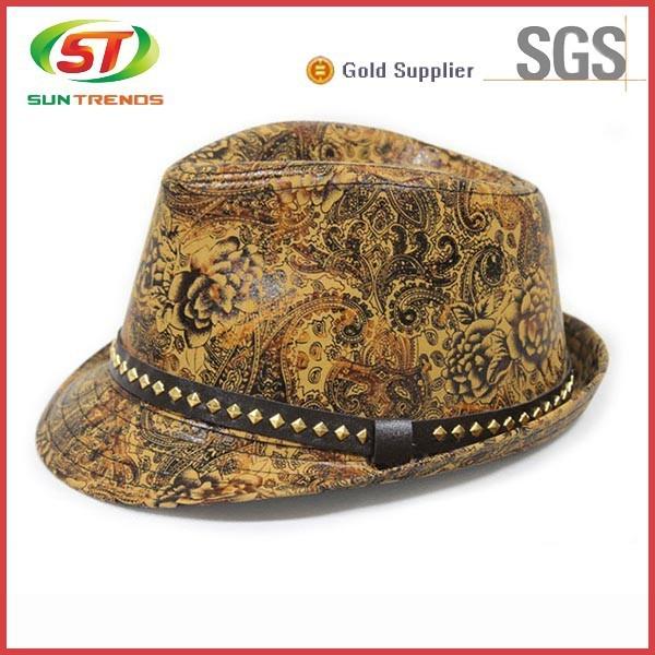 New style fedora mens hat camouflage fedora hat