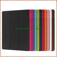 folder stand Smart Cover case For IPad pro 12.9 inch, Slim Magnetic PU Leather Smart Cover + Hard Back Case for ipad pro