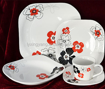 European high-grade bone china tableware set, luxury porcelain dinnerware set