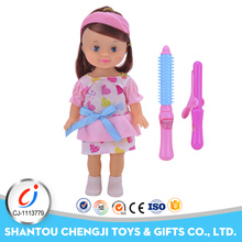 Funny hairdressing game pretend fashion life size doll for girl