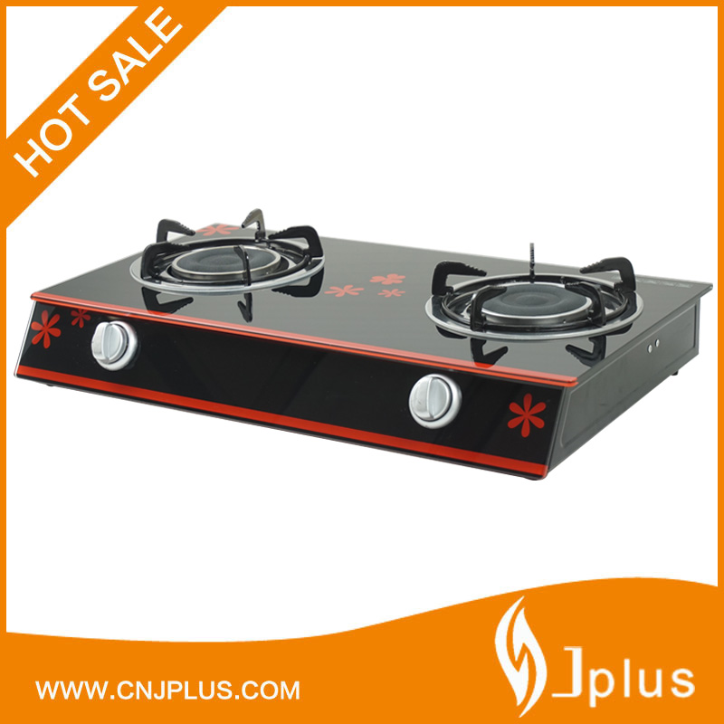 JP-GCG210B Kitchen glass top infrared double burner gas appliances cooktop