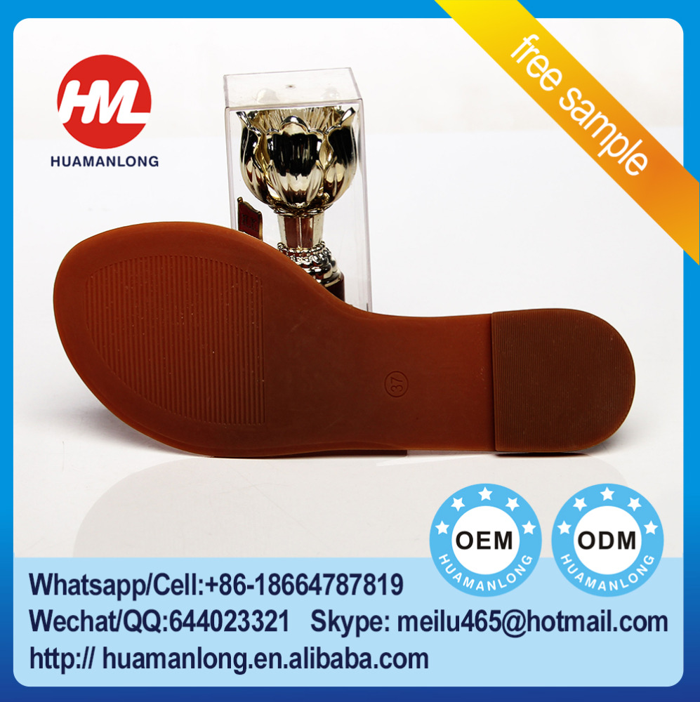 New Loafer Design Brown Round Toe Lady Shoe Outsole