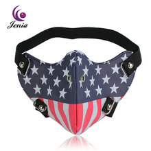 Jenia Colorful Motorcycle Dust Leather Face Mask Designs