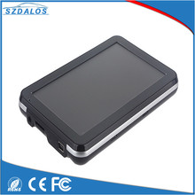 5 inch hd resolution touch screen portable gps navigation device with global map ,bluetooth,audio system