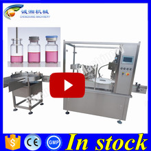 Hot sell automatic vial filling plugging and sealing,vial filling capping machine 150ml