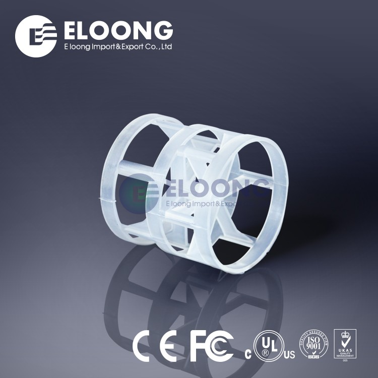 50mm Diameter Large Fluid Capacity Plastic Plastic PE Pall Ring For Absorption