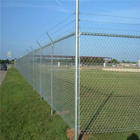 galvaznied or pvc coated chain link fence for feild
