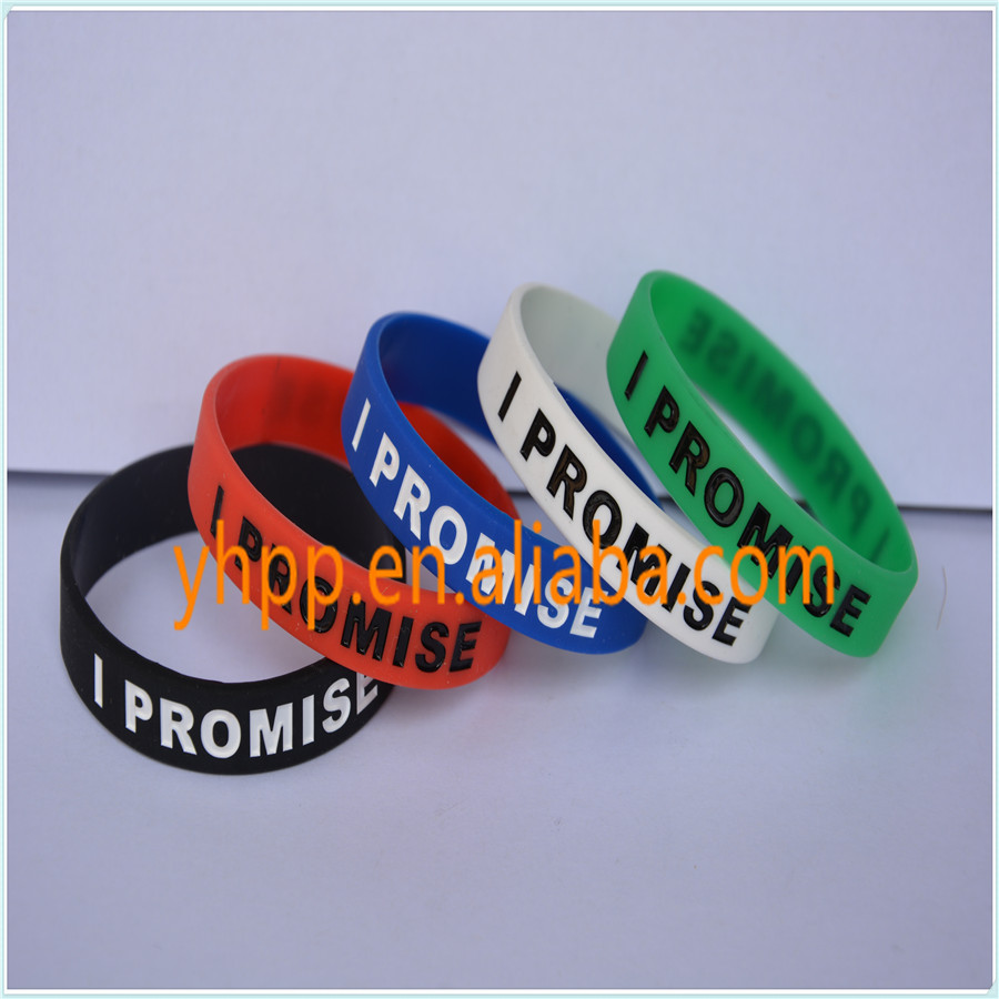 Motivational Slogan Silicone Wristband Bracelet