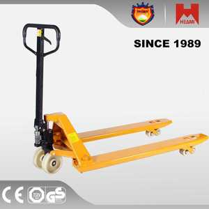 all terrain pallet truck high quality cby manual hydraulic lifter trolley