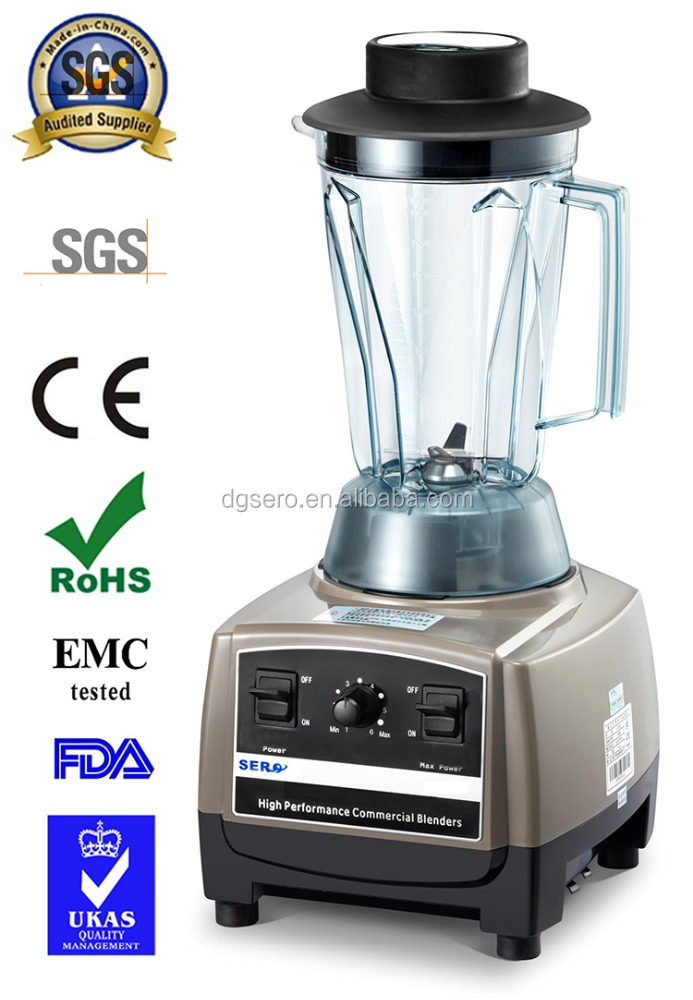 1250w 28000RPM Heavy duty commercial variable speed professional power food processor blender food mixer juicer