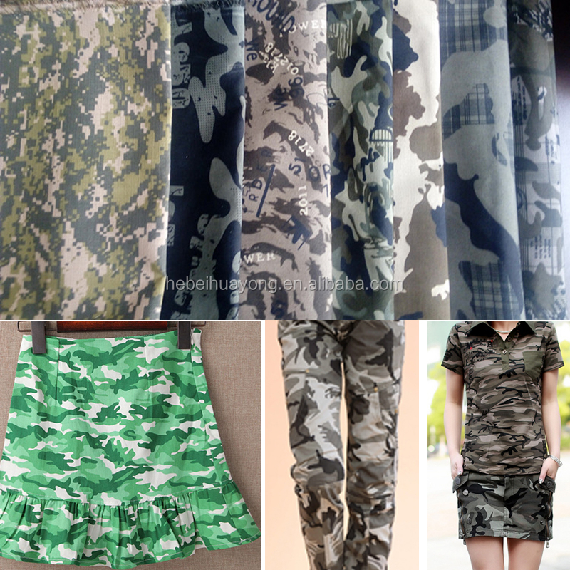 snow camouflage twill fabric polyester cotton fabric wholesale cheap factory price