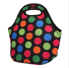 Custom pattern insulated cheap customized neoprene lunch box/bag for kids