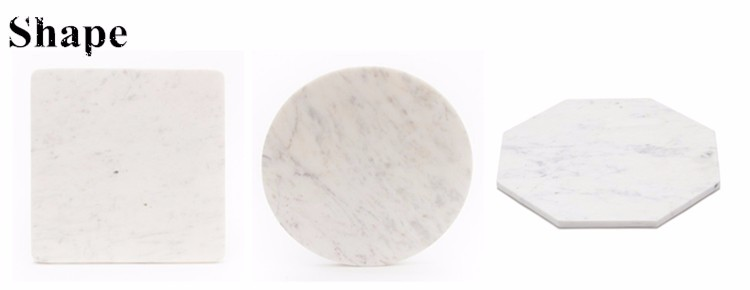Best marble hot sale square white marble coaster
